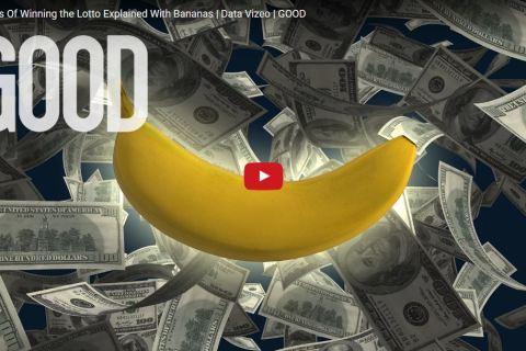 Grâce à cette banane on explique en une minute et demie vos chances (!) de gagner la loterie américaine.