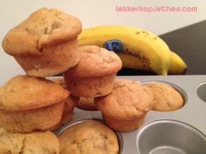 Mini bananenbrood muffins met peer
