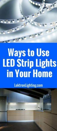 20 LED Light Strip Ideas For Your Home - Lektron Lighting