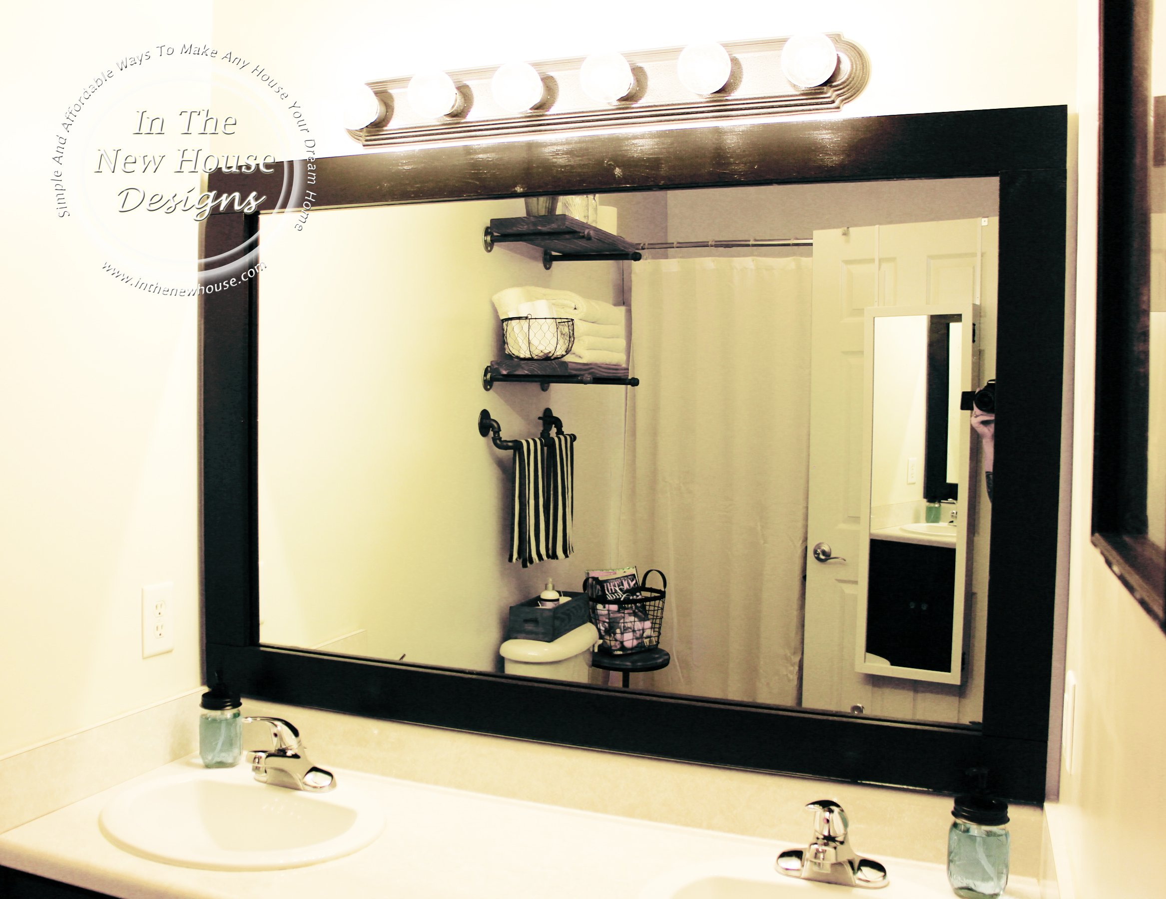 How To Frame A Bathroom Mirror Without Breaking The Bank Organized Ish By Lela Burris