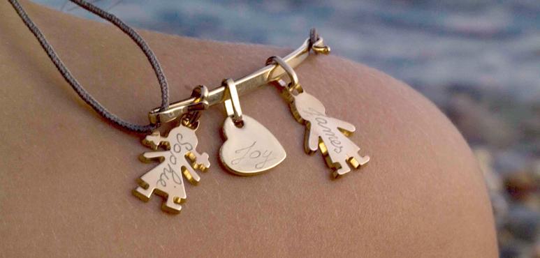 bijoux personnalisables pour parents et enfants