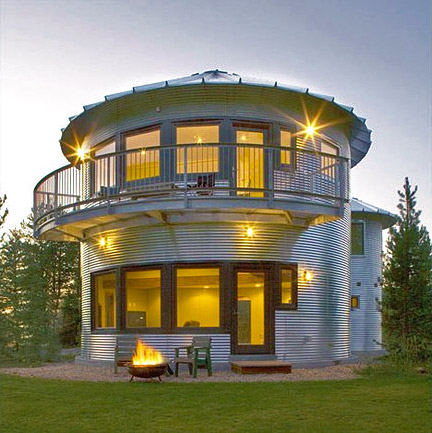 Green Homes Made Of Steel Grain Bins   Wholesome Homes