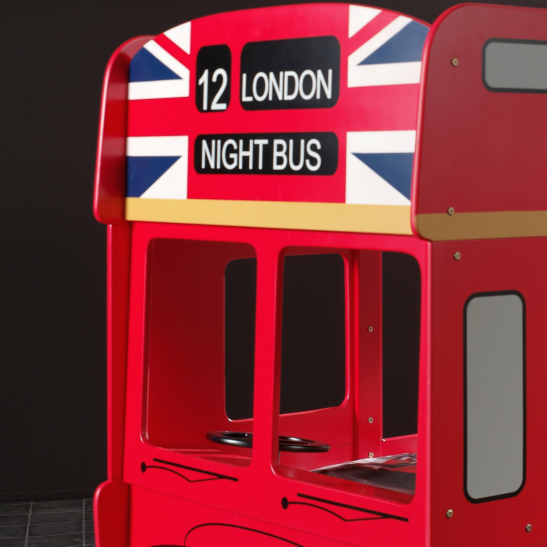 Lit Bus Enfant Lit Superposé London Bus 90x200