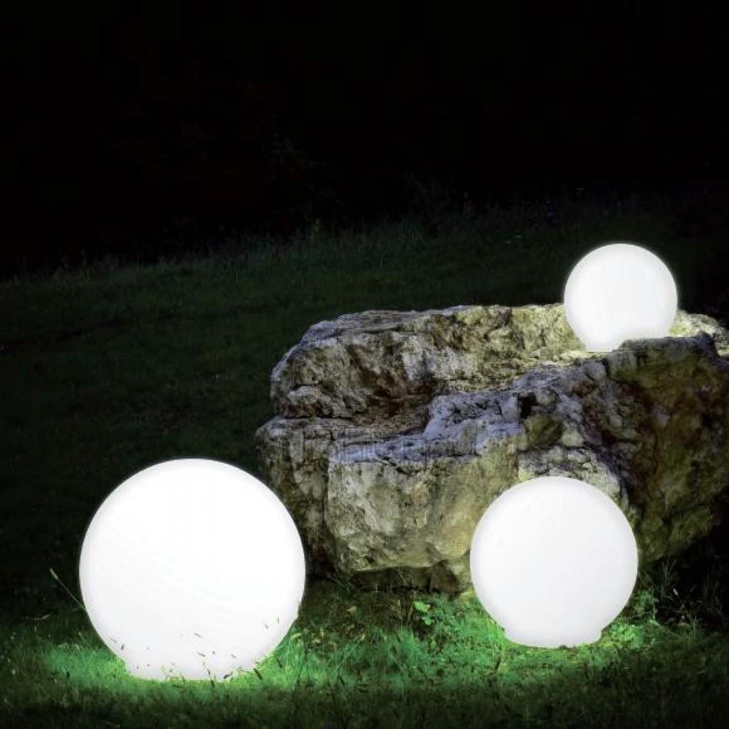 Boule Lumineuse Led Jardin | Elegante Leuchtkugel In Granit Optik ...