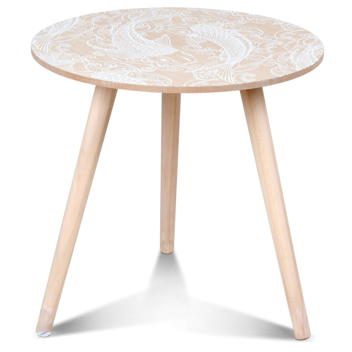 Table D Appoint Blanche Table D 39appoint Oucham Blanc Lemobilier Ma