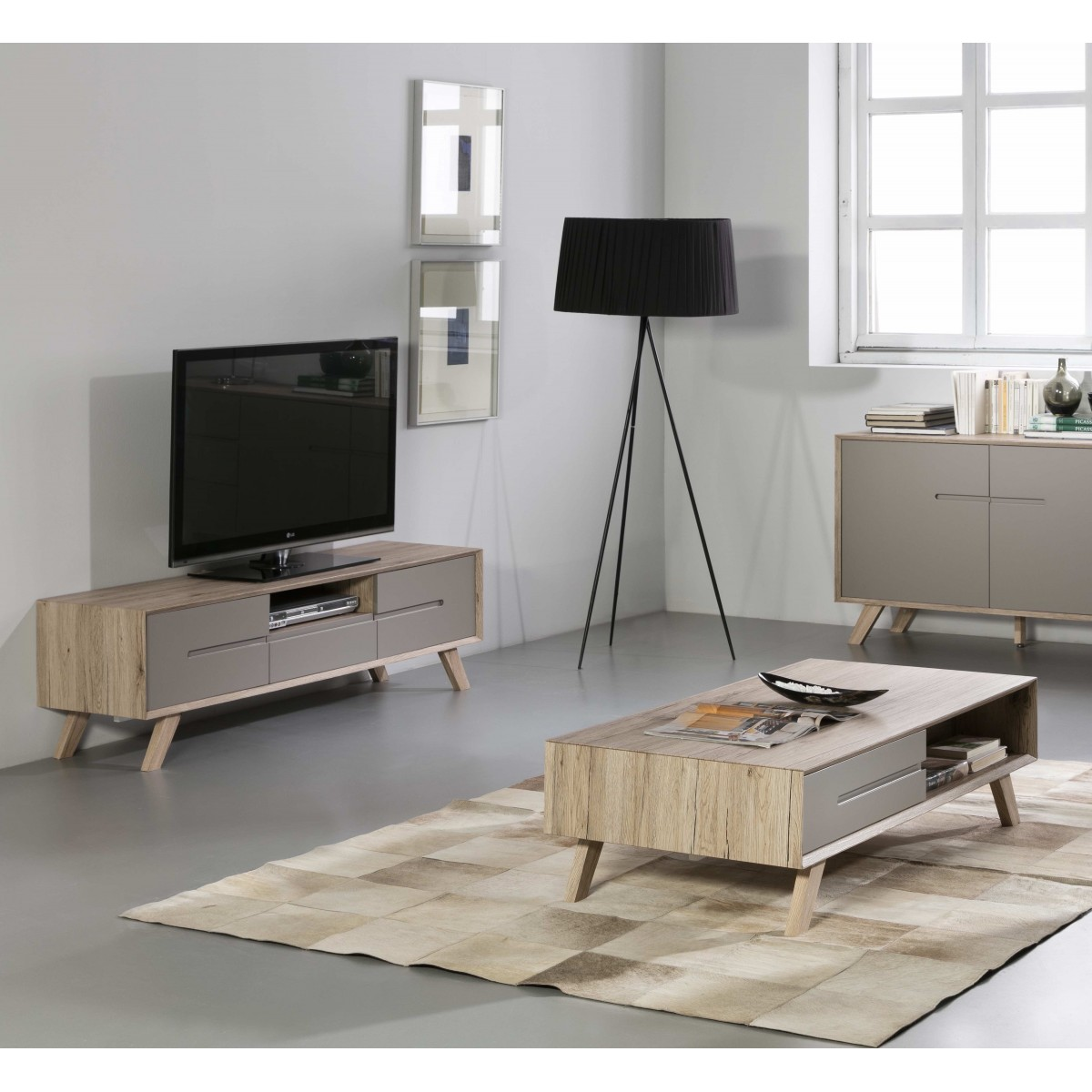 Ma Meubles Promo Pack Meuble Tv 43 Table Basse Olie Taupe