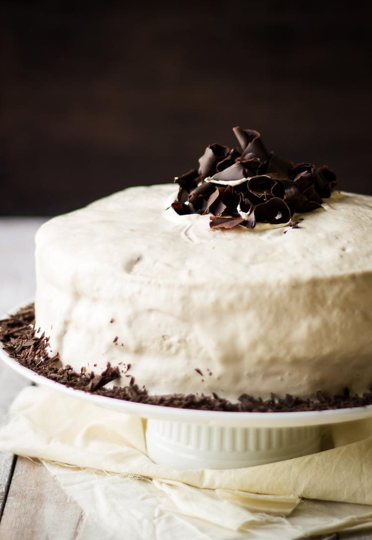 Eggless Mocha Coffee Cake