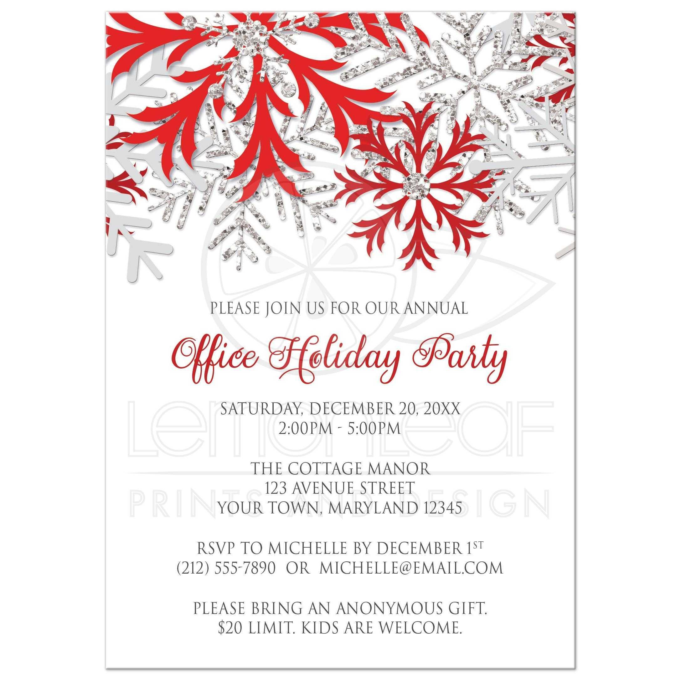 snowflake party invites