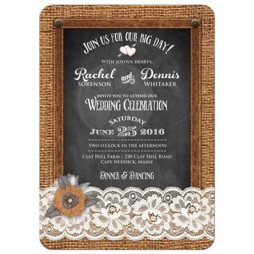 Medium Of Country Wedding Invitations