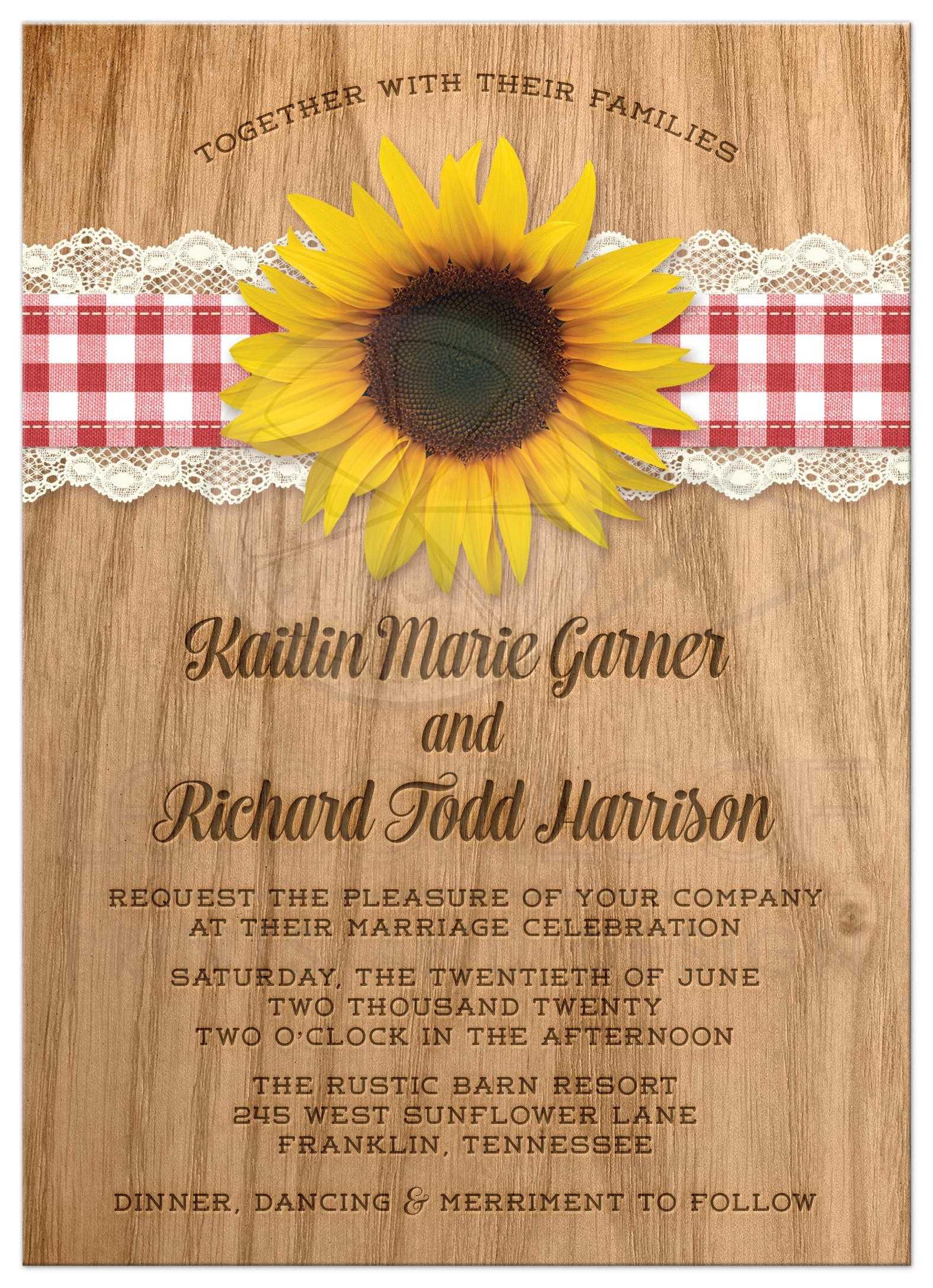 Fullsize Of Sunflower Wedding Invitations