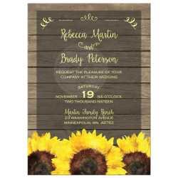 Small Crop Of Sunflower Wedding Invitations