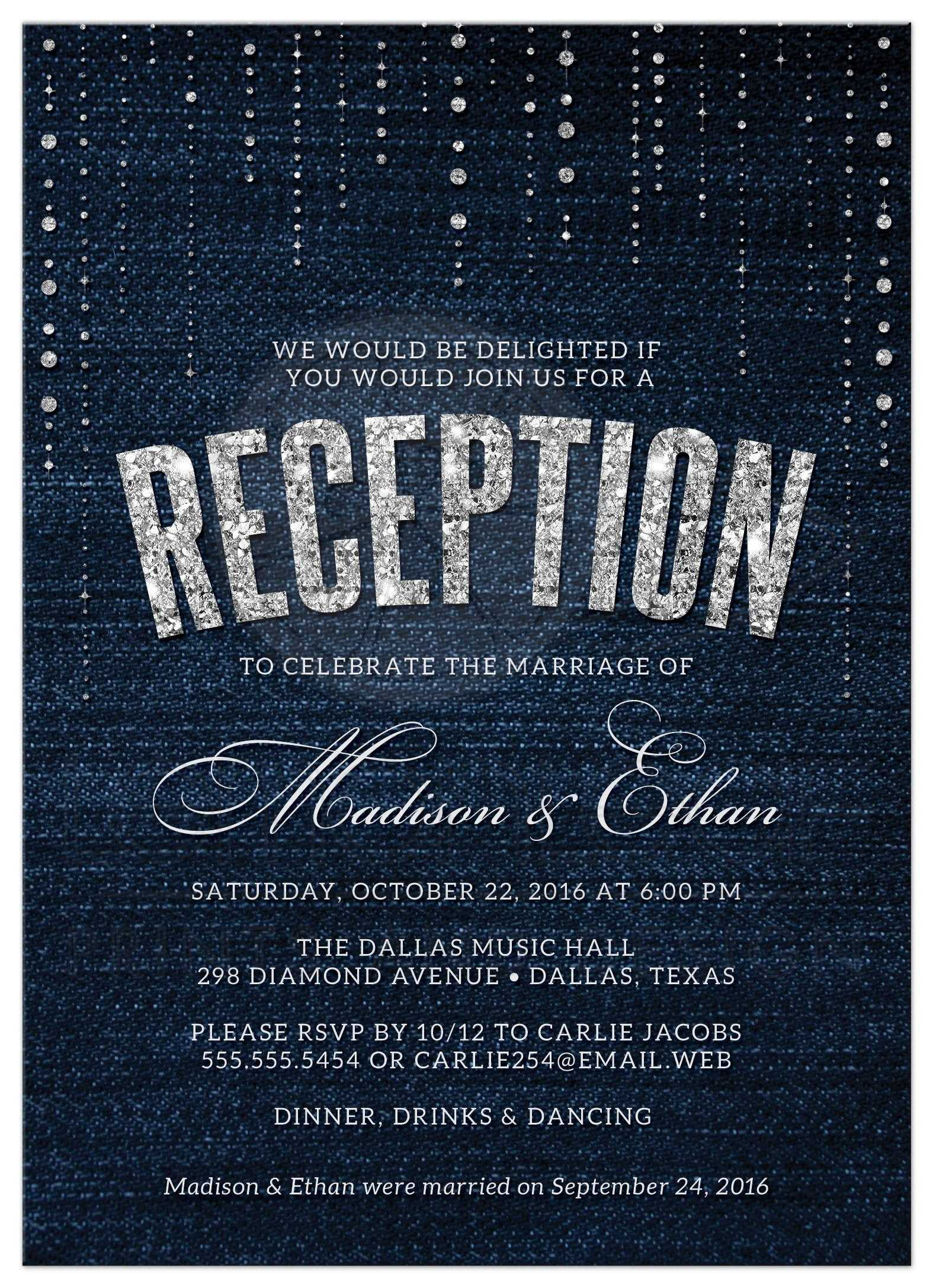 Fullsize Of Wedding Reception Invitations