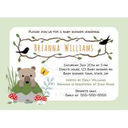 Small Crop Of Woodland Baby Shower Invitations