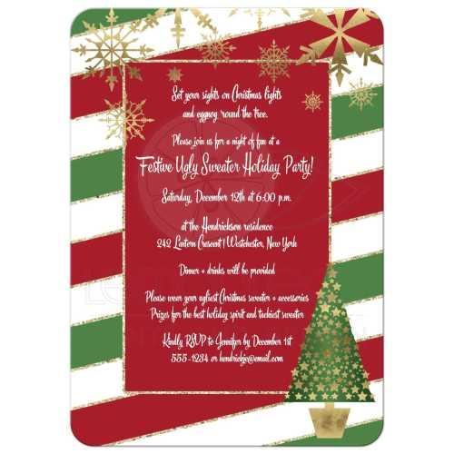 Enticing Green Candy Cane Striped Or Holiday Party Invitationwith Holiday Party Invitation Green Candy Cane Stripes Holiday Party Invitations Holiday Party Invitations Wording Samples