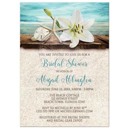Medium Of Bridal Shower Invitation Wording