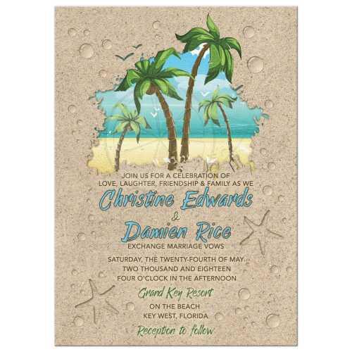 Medium Of Beach Wedding Invitations