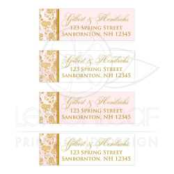 Small Crop Of Wedding Address Labels