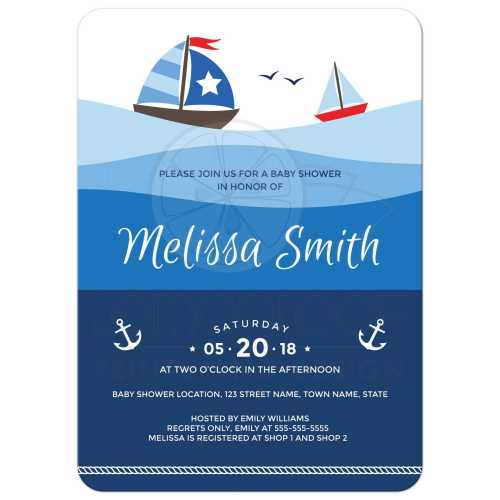 Medium Crop Of Nautical Baby Shower Invitations