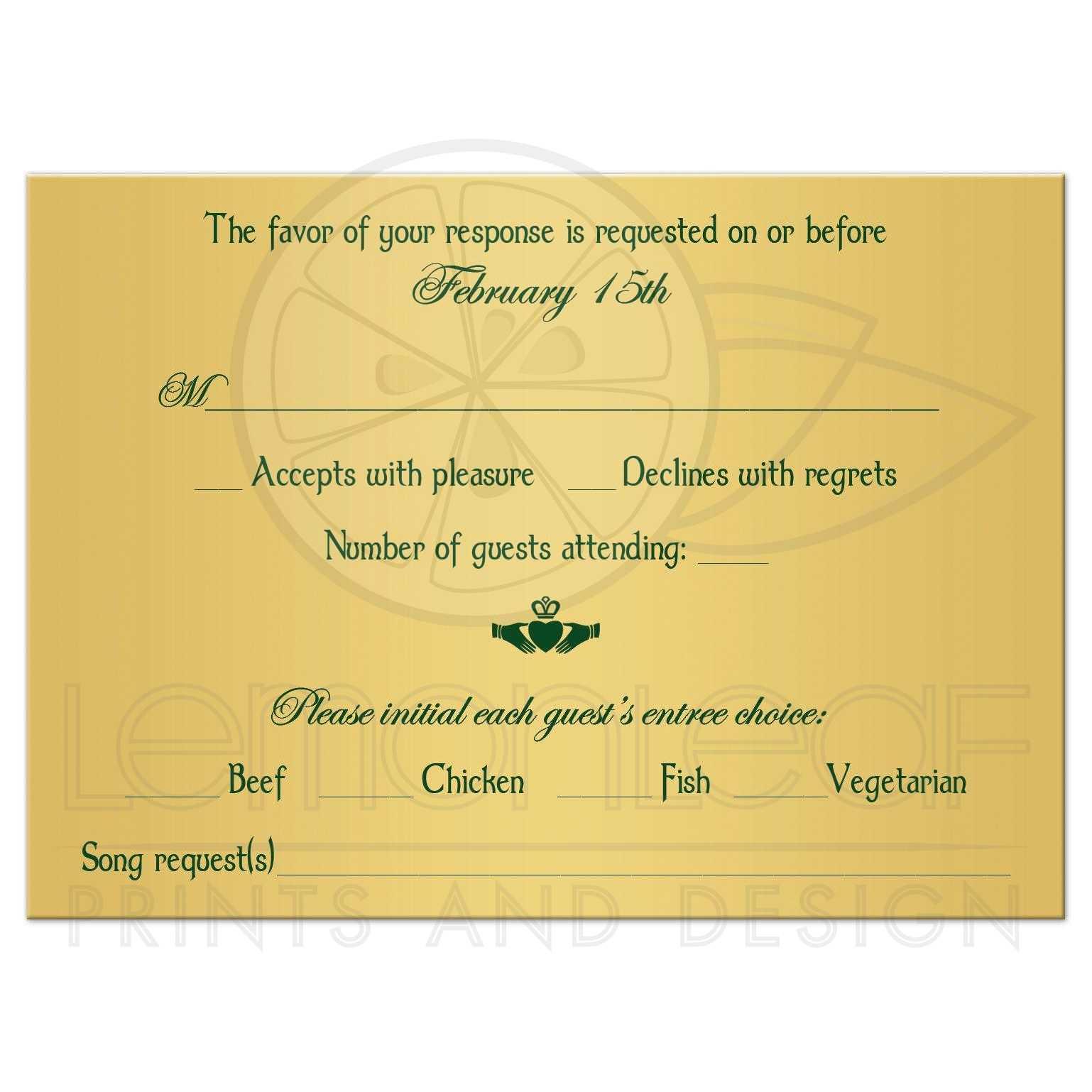 Assorted Green Intricate Celtic Wedding Rsvp Card G Floral Claddagh Rsvp Card Wedding Wording Ny Wedding Rsvp Cards G Irish Or Celtic Wedding Rsvp Enclosure Card Insert Withg Claddagh wedding Rsvp Cards Wedding