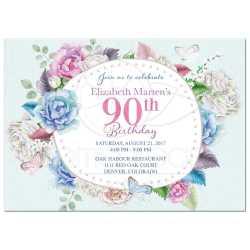 Small Of 90th Birthday Invitations