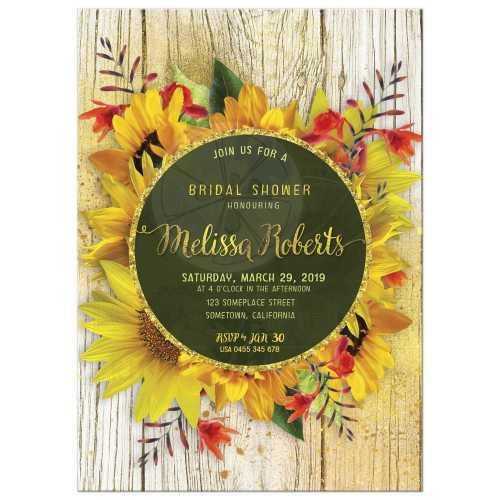 Medium Of Rustic Bridal Shower Invitations