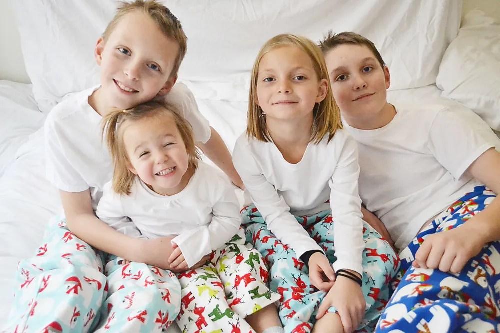 Flannel Christmas PJ's // lemon squeezy home