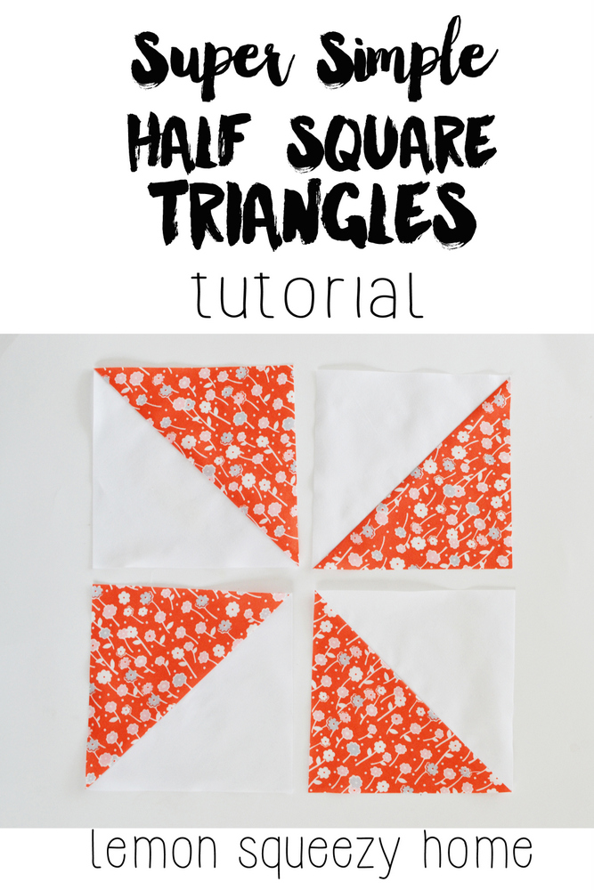 Easy Half Square Triangles // lemon squeezy home