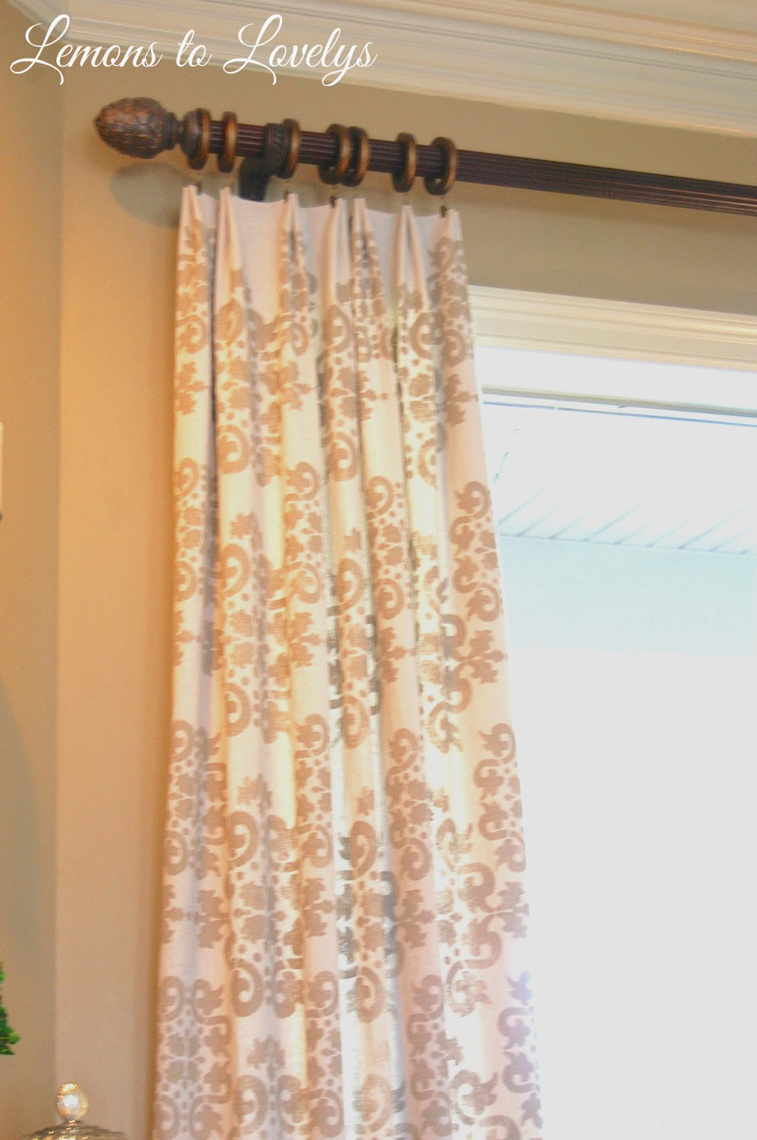 Ready Made Curtains 108 Drop Easy No Sew Drop Cloth Curtains With Pleats Lemons To Lovelys