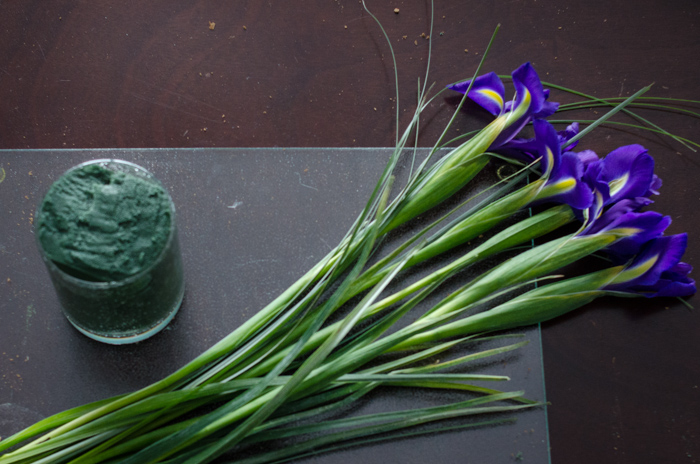 DIY Spring Iris Arrangement - lemonthistle.com