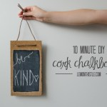 10 Minute Leather and Cork Chalkboard