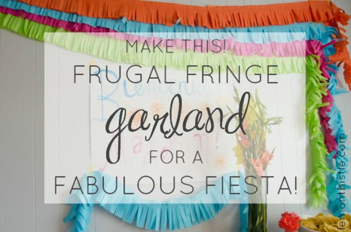 DIY Frugal Fringe Garland for a Fiesta! -lemonthistle.com