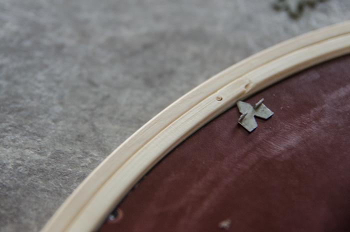 DIY Hoop Mirror: An Anthro Knockoff! -lemonthistle.com