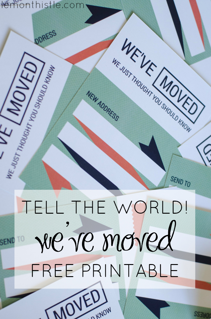 Moved? How about some free printable postcards to let everyone know! - Lemonthistle.com