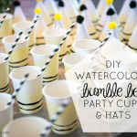 DIY Bumble Bee Party Hats and Cups