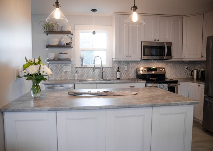 Before and After DIY Kitchen Renovation - Lemon Thistle