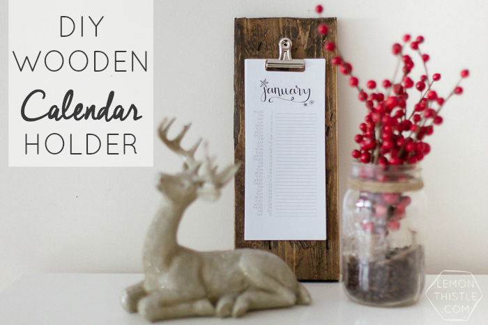 DIY Wooden Calendar Holder