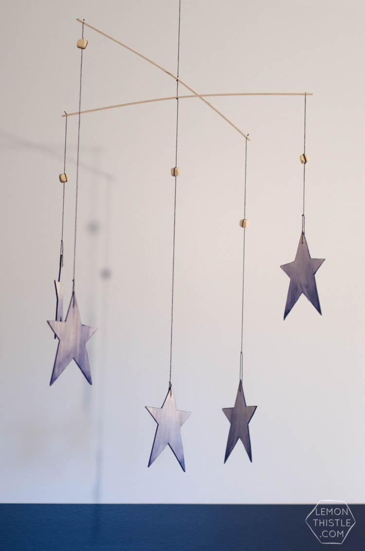 Wooden Baby Mobile Diy Watercolor Wooden Star Mobile Lemon Thistle