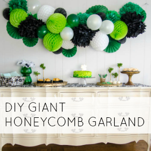 DIY GIANT HONEYCOMB PARTY GARLAND