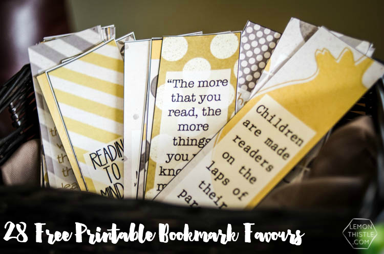 Book Baby Shower Bookmark Favours- Free Printable - Lemon Thistle