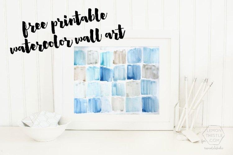 Free Printable Watercolor Wall Art