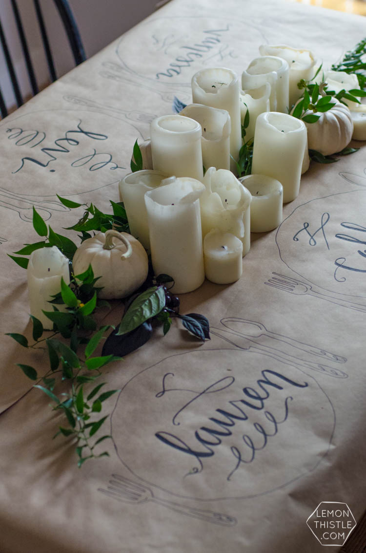 Friendsgiving 2015 casual and organic lemon thistle - Interesting tables capes for christmas providing cozy gathering space ...