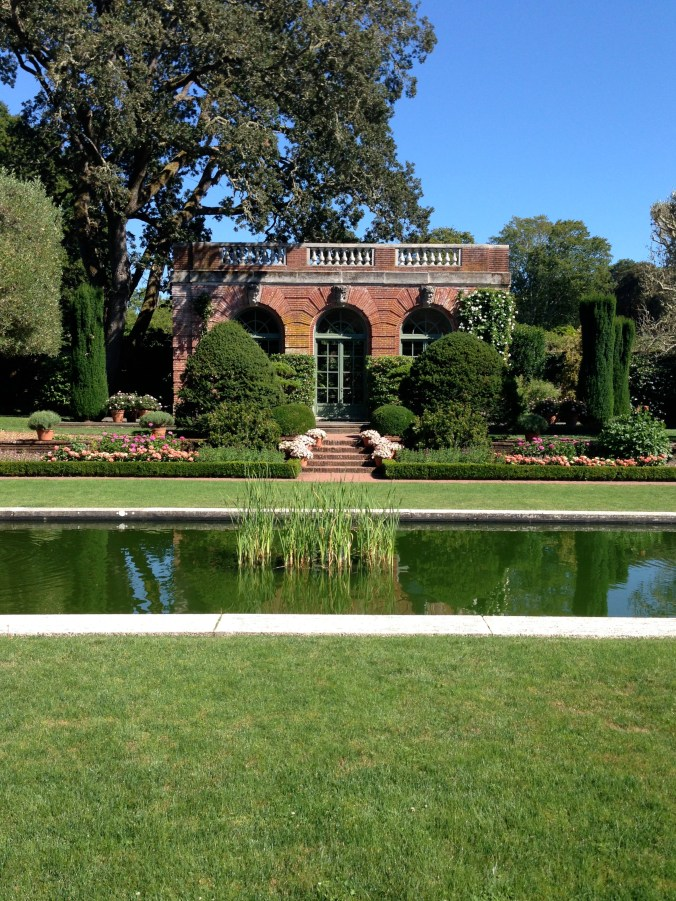 One of the smaller buildings nestled in Filoli's extensive gardens.