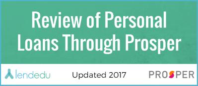 Review of Personal Loans Through Prosper | LendEDU