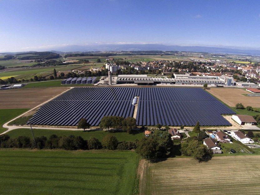 Solar panels Payerne Switzerland_1