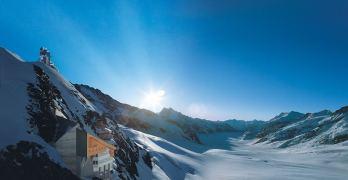 Alpine panoramas, fondue and snowballs at Europe's highest railway station