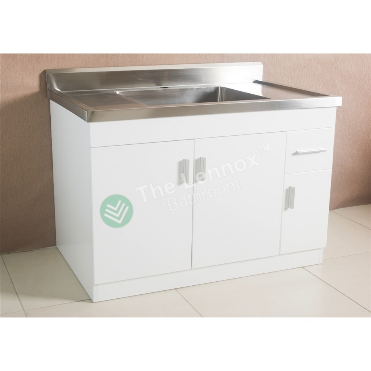 Kitchen Base Cabinets 1200mm Sink Cabinet Sepia 1200 White