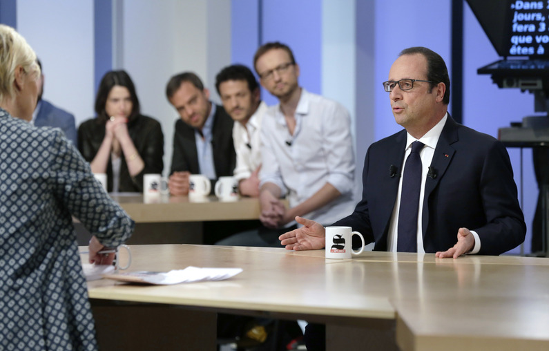 FRANCE-POLITICS-MEDIA-HOLLANDE