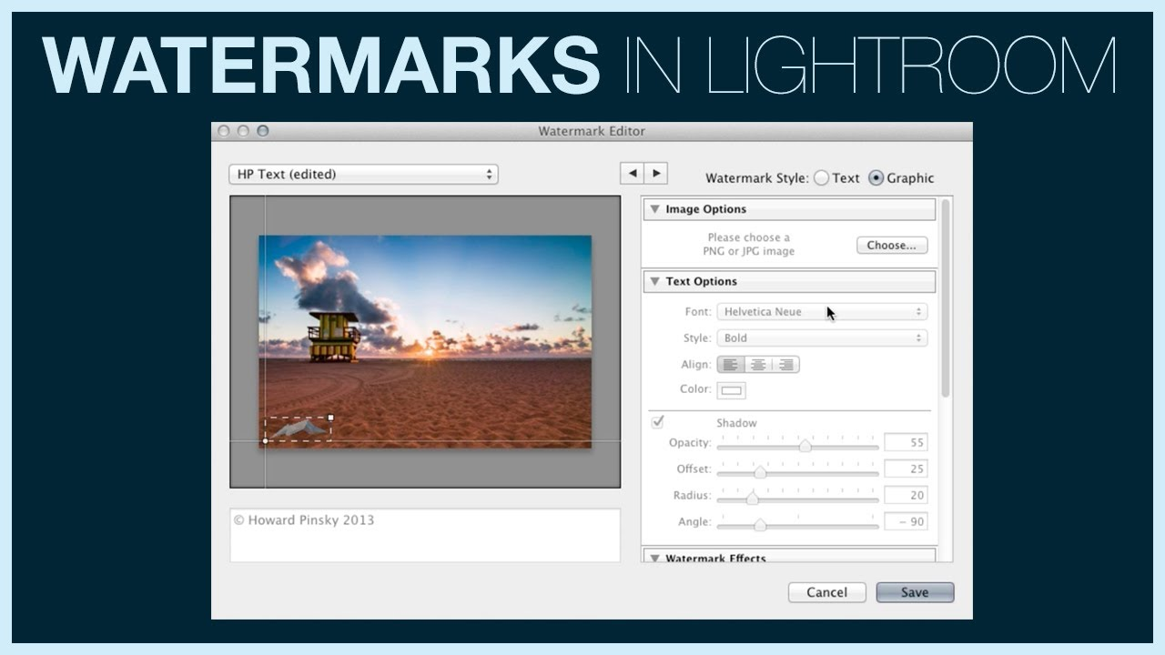Adobe Convert Image To Text How To Add A Watermark In Lightroom 5 Lensvid Lensvid