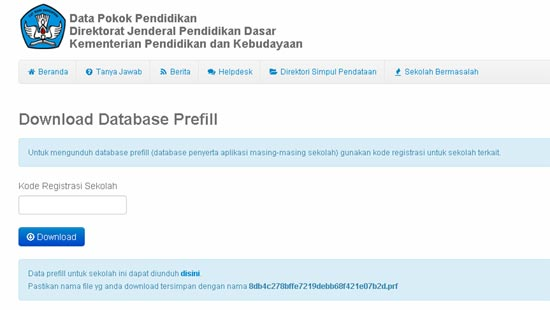 database-prefiil