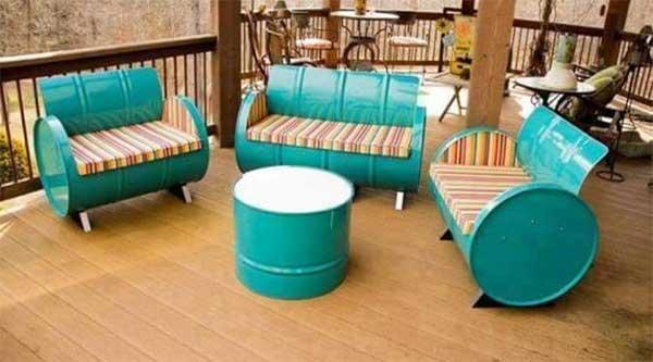 Ubah Drum Bekas Menjadi Furniture Unik